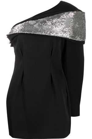 Isabel Marant Asymmetric-shoulder sequin-embellished dress