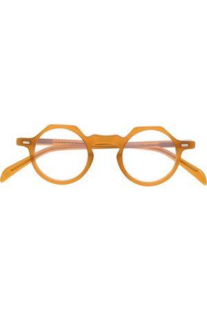 LESCA Round-frame clear-lens glasses - Neutrals