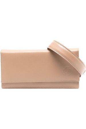 Linda Farrow Embossed-logo leather belt bag - Neutrals