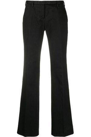 Helmut Lang 2000s pinstripe bootcut trousers