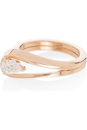 Repossi 18K rose gold Serti Inversé diamond ring