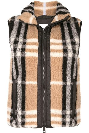 Burberry Vintage Check fleece gilet jacket