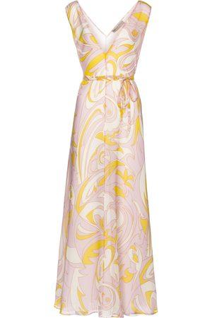 Emilio Pucci Printed silk crêpe midi dress