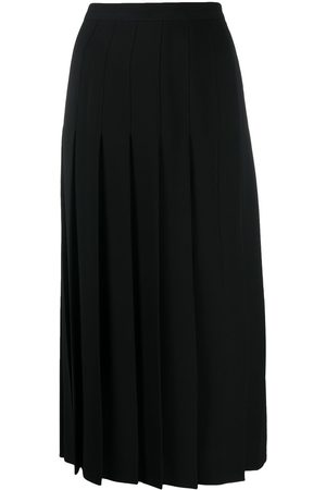 VALENTINO Pleated side slit skirt
