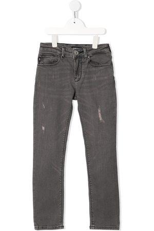 Emporio Armani Distressed mid-rise straight-leg jeans