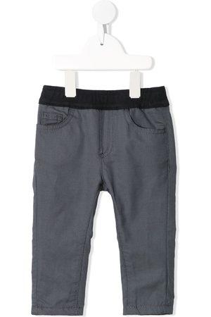 Emporio Armani Check-print slip-on trousers