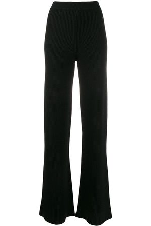 Cashmere In Love Women Wide Leg Trousers - Ribbed flared Cortina trousers
