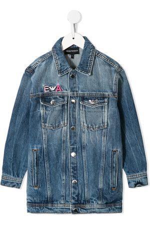 Emporio Armani Girls Denim Jackets - Embroidered denim jacket