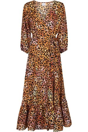 ANNA KOSTUROVA Exclusive to Mytheresa - Leopard-print silk midi dress