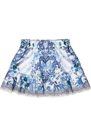 Camilla Girls Skirts - Embellished cotton skirt