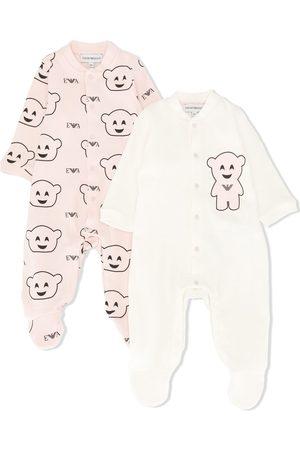 Emporio Armani Bear-print two-set pyjamas