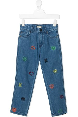 Kenzo Boys Trousers - Embroidered-design jeans