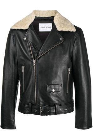 Stand Studio Faux leather biker jacket