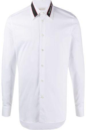 Alexander McQueen Logo-tape tailored shirt