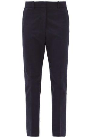 Joseph Coleman Straight-leg Gabardine Trousers - Womens - Navy