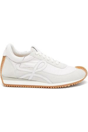 Loewe Flow Runner Shell And Suede Trainers - Womens