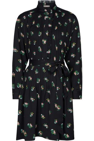 Tory Burch Cora floral pleated shirt dress