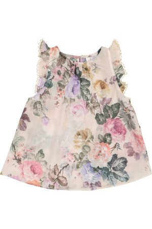 ZIMMERMANN Girls Tops - Exclusive to Mytheresa – Brighton floral cotton voile top