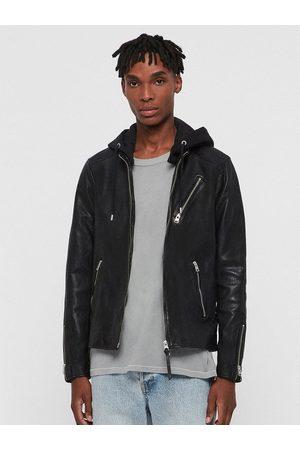 AllSaints Men Leather Jackets - Harwood Detachable Hood Leather Jacket
