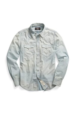 RRL Slim Chambray Western Shirt