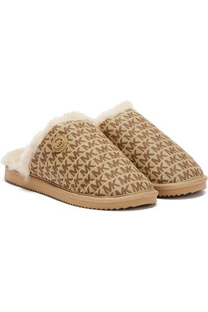 Michael Kors Janis Jacquard Logo Womens Slippers