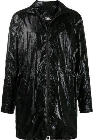 Karl Lagerfeld Ikonik high shine windbreaker jacket