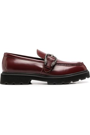 Gucci Polished buckle-fastening loafers