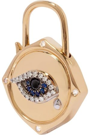 ANNOUSHKA Yellow , Diamond and Sapphire Lovelock Evil Eye Charm