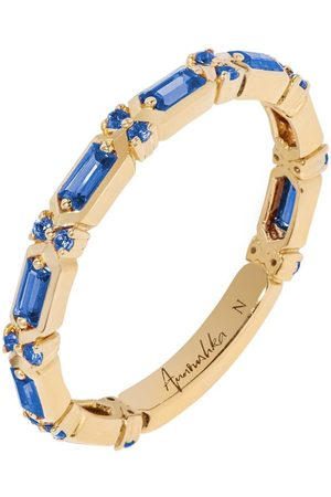 ANNOUSHKA Yellow and Blue Sapphire Baguette Ring
