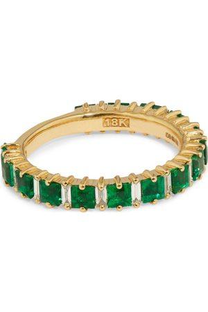 Suzanne Kalan Yellow Gold, Emerald and Diamond Fireworks Ring Size 5.5