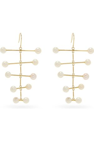 Mateo Pearl Blizzard 14kt Gold Mobile Earrings - Womens - Pearl