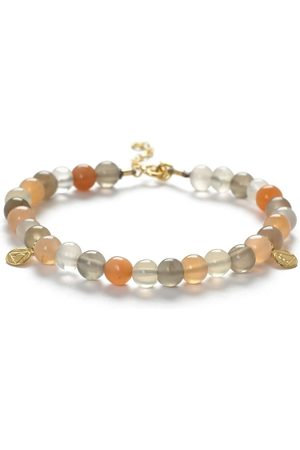 The Alkemistry 18ct Gold Rainbow Moonstone Mix Cinta Bracelet