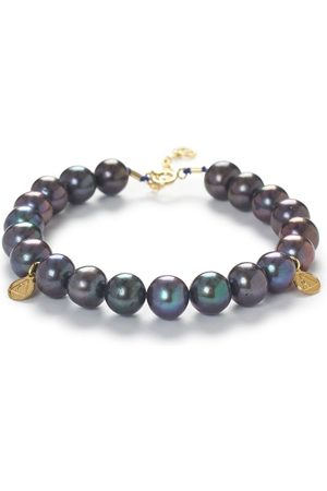 The Alkemistry 18ct Gold And Peacock Pearl Bracelet