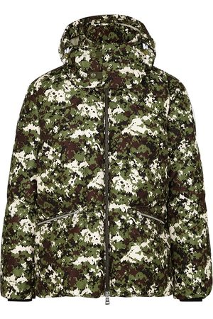 Moncler Blanc Camouflage-print Quilted Nylon Jacket