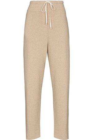 Les Tien Wide-leg cashmere track pants - Neutrals
