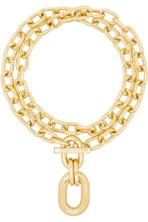 Paco Rabanne Double-wrap chain necklace