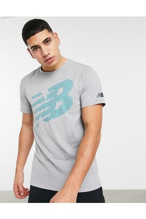 New Balance Running large logo heathertech t