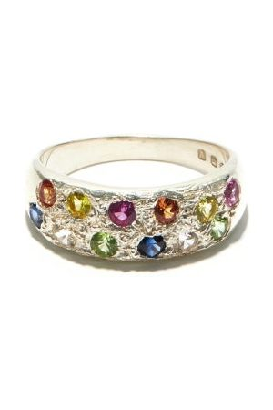 Bleue Burnham Riviera Sapphire And Recycled-sterling Ring - Mens - Multi