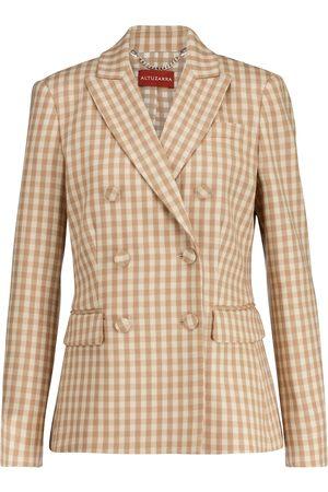 Altuzarra Beatrix gingham wool-blend blazer