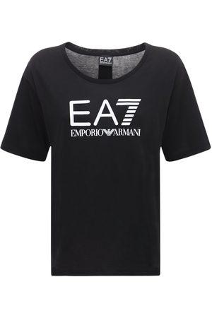 EA7 Women T-shirts - Logo Cotton T-shirt