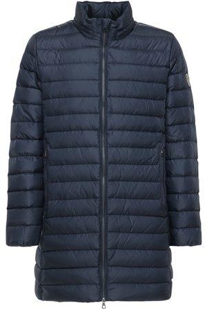 EA7 Long Nylon Down Coat