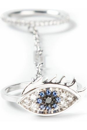 DELFINA DELETTREZ Two in one' sapphire and diamond eye ring - Metallic