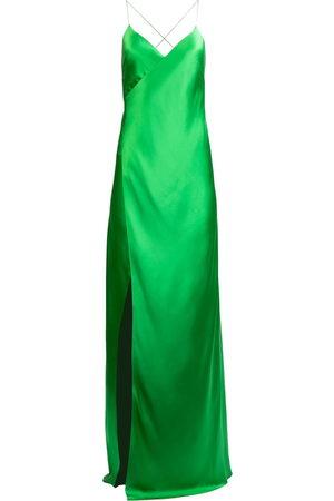 Michelle Mason Women Evening Dresses - Cross-strap silk wrap gown