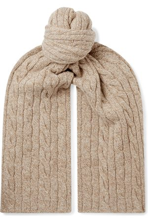 Loro Piana Men Scarves - Cable-Knit Mélange Baby Cashmere Scarf