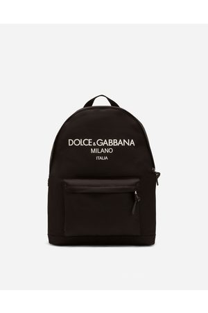 Dolce & Gabbana Men Rucksacks - Collection - NYLON BACKPACK WITH RUBBERIZED LOGO male OneSize