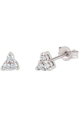 Dinny Hall Women Earrings - 14kt white gold diamond Shuga mini trillion stud earrings