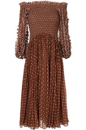 RACHEL GILBERT Peppa polka dot-print midi dress