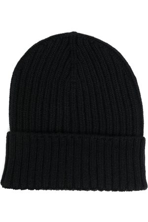 DELL'OGLIO Men Beanies - Ribbed-knit cashmere beanie