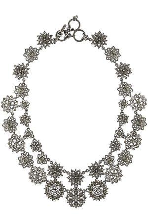 Marchesa Notte Double-strand crystal flower necklace