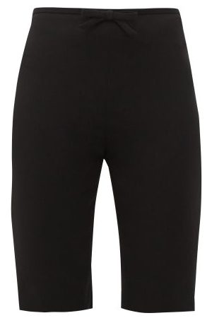 Miu Miu Bow-embellished Cady Cyclin Shorts - Womens